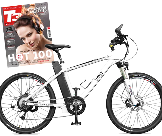 T3 Hot 100 list 2014 featuring Alpine X electric mountain bike