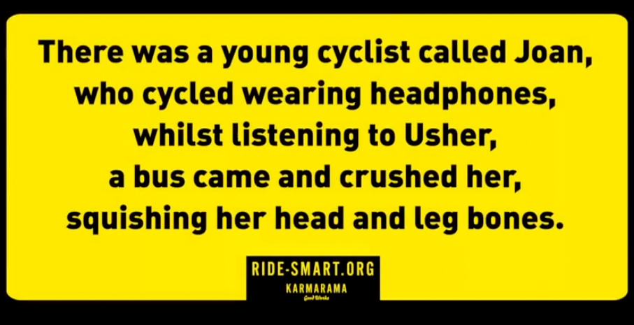 bad bike safety campaign