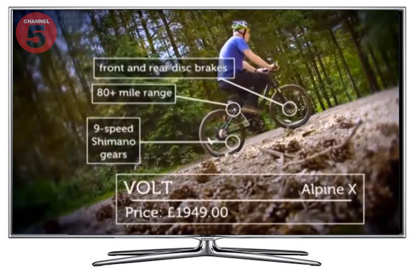 Volt Alpine X appearing on Channel 5 Gadget Show