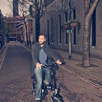 On the VOLT Metro folding electric bike
