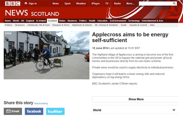 Applecross article on BBC Scotland