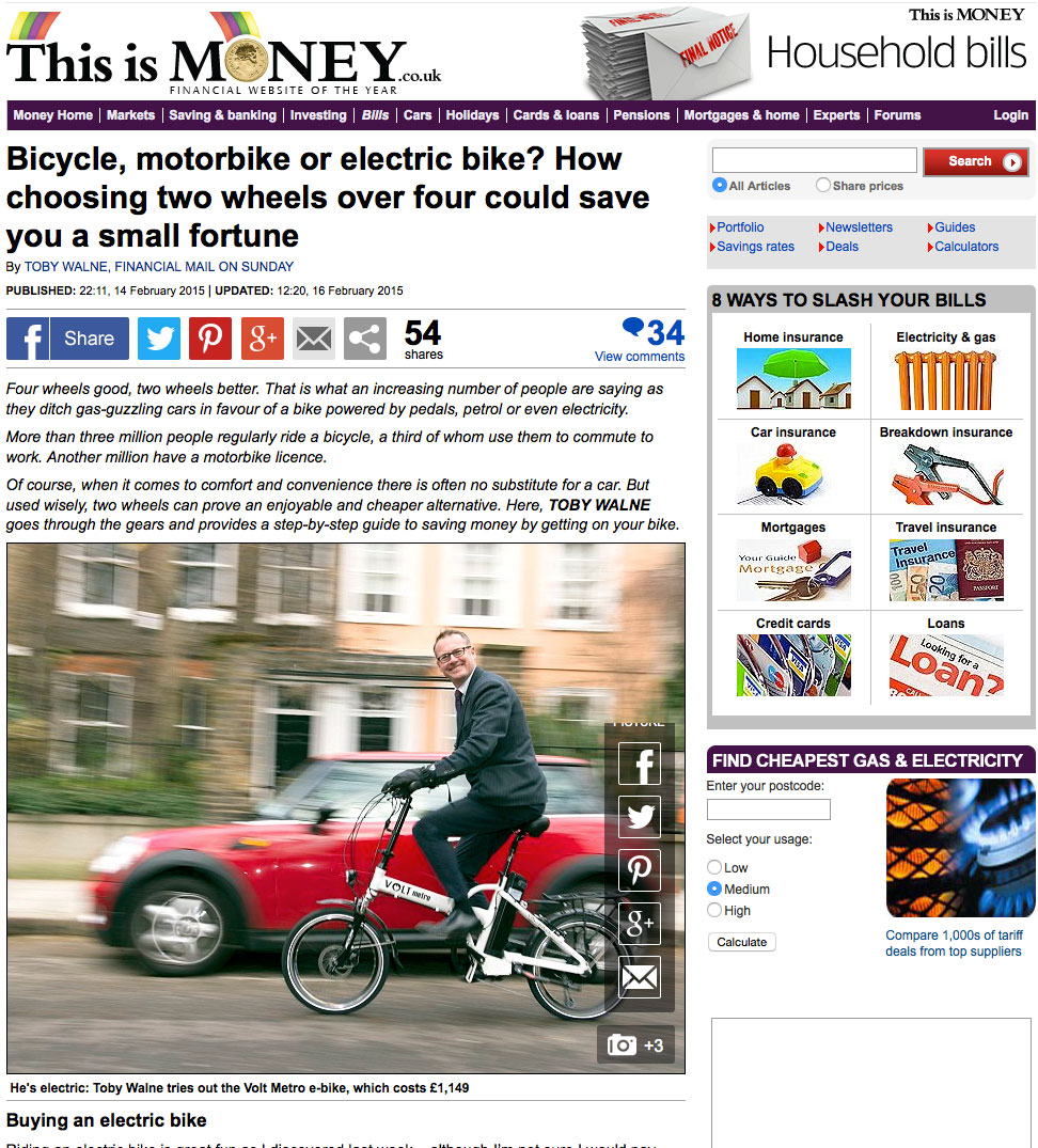 This is money article on electric bikes