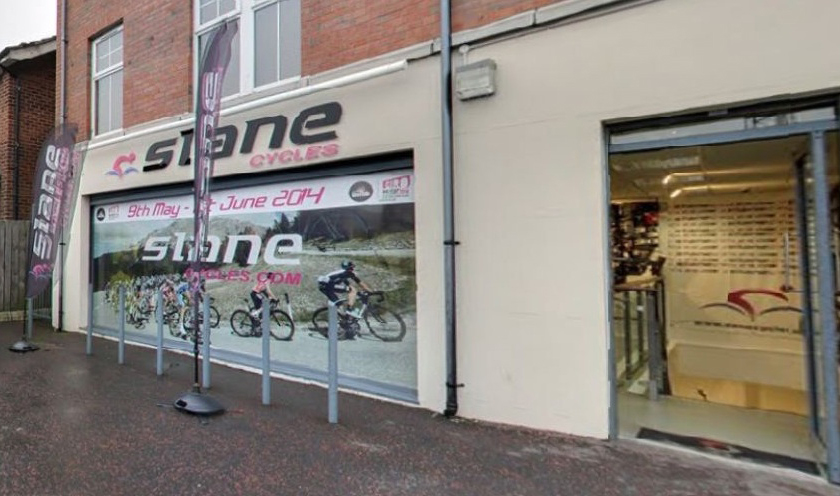 Exterior of Slane Cycles bike shop, Belfast