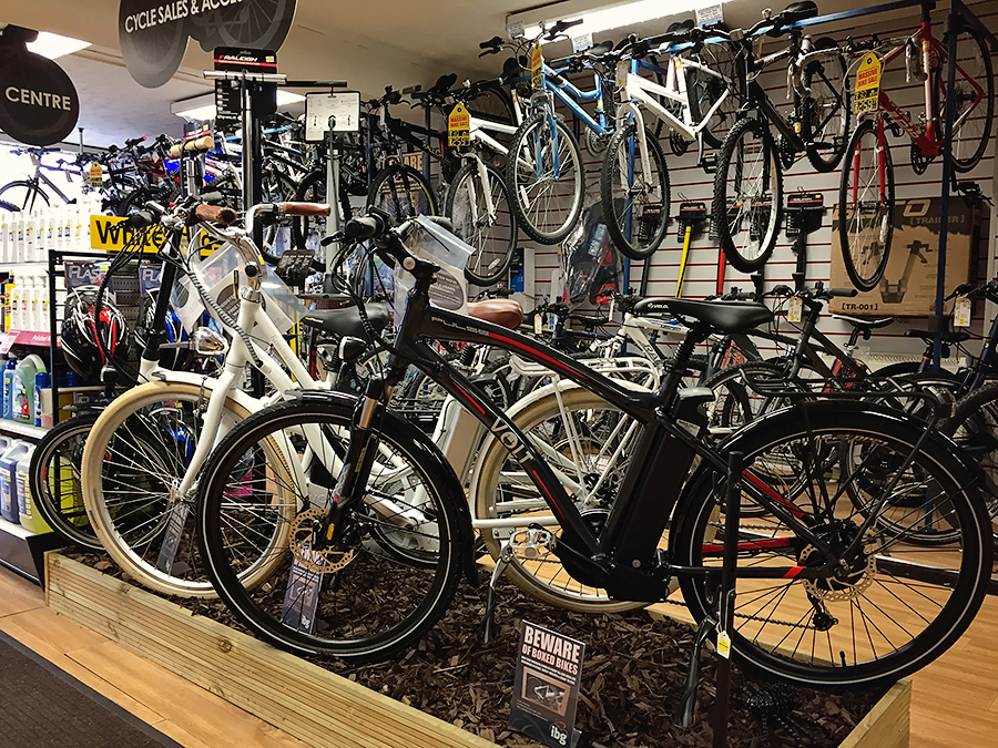 Volt e-bike display at Whiteheads Cycle in Carlisle