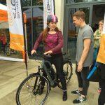 Demonstrating the Shimano STEPS e-bike