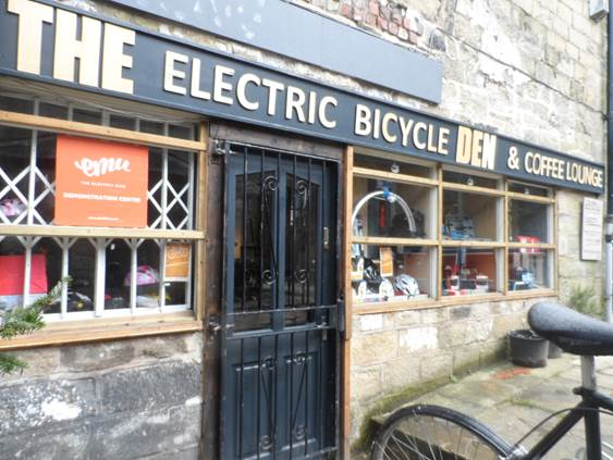 The Bicycle Den, Hebden Bridge, Yorkshire