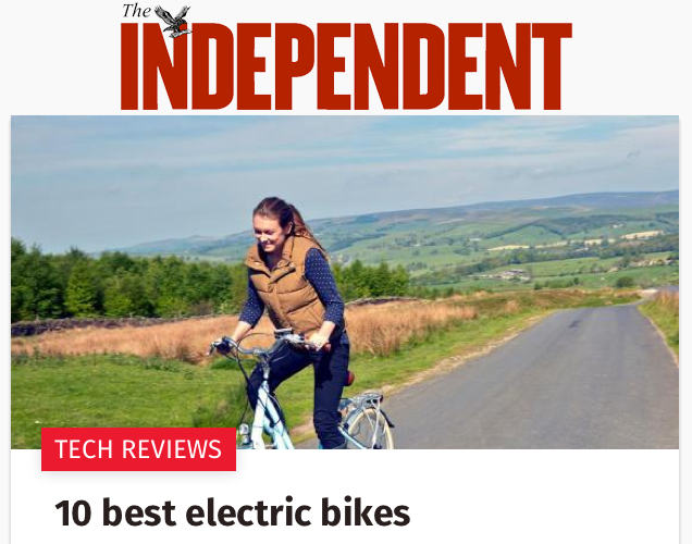 Independent 10 best electric bikes