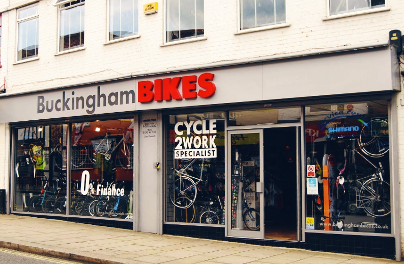 Buckingham Bikes front of shop