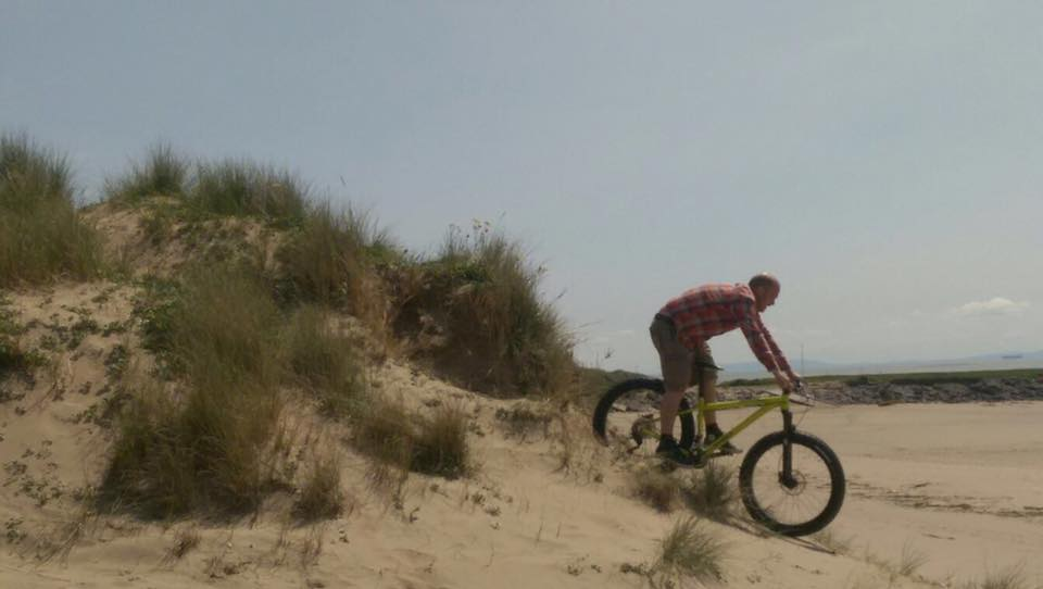 Cycling on the Sand Dunes