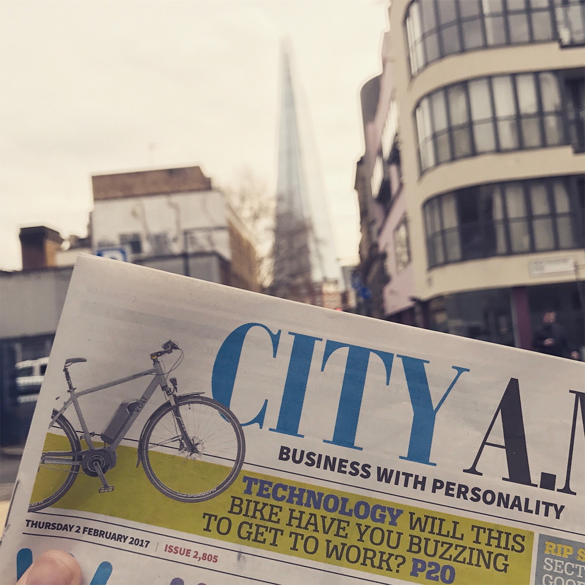 City AM cover featuring Infinity review