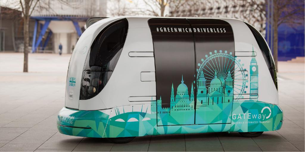 Driverless car Harry in Greenwich, London