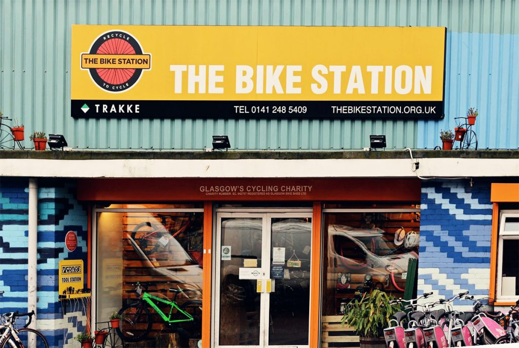 The Bike Station Glasgow Shop front