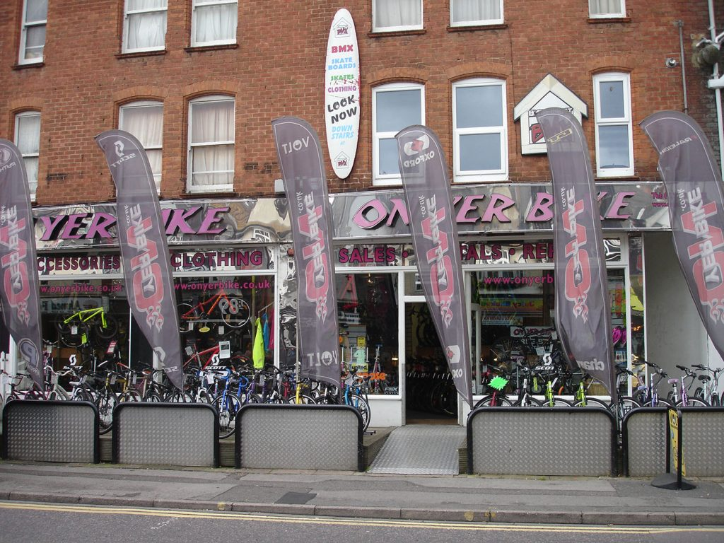 The On Yer Bike storefront in Bournemouth, United Kingdom