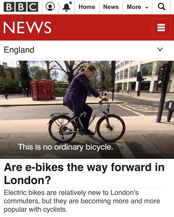 BBC News features the VOLT Pulse e-bike