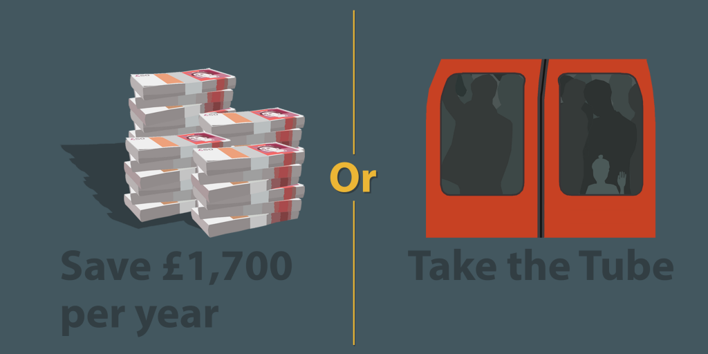 Money Saving vs Tube-Ride