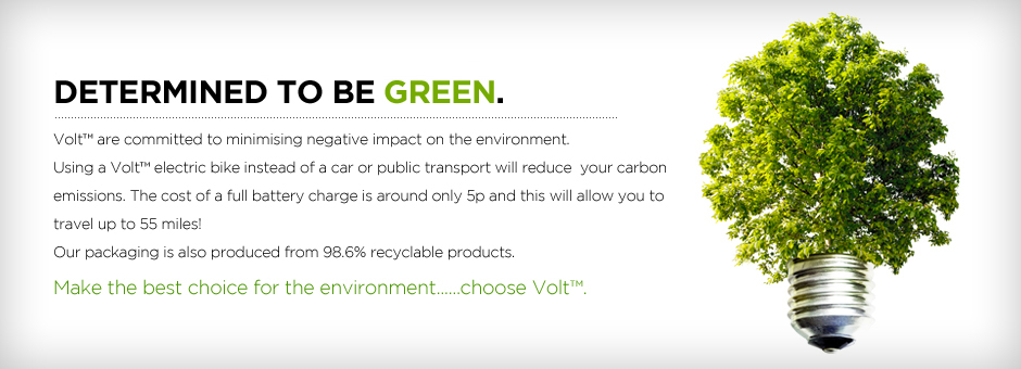 UK electric bikes are greener with Volt determined. Eco friendly packaging