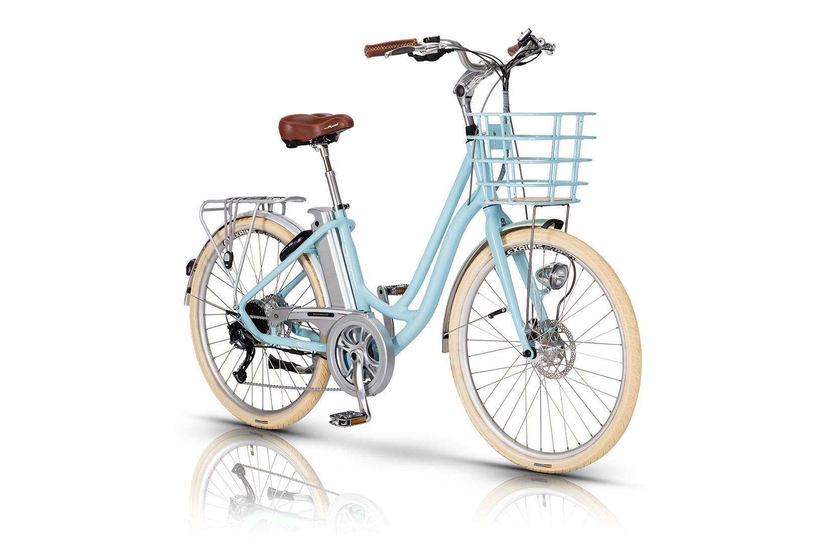 87f61ace009 Volt Kensington Blue Step Through Electric Bicycle