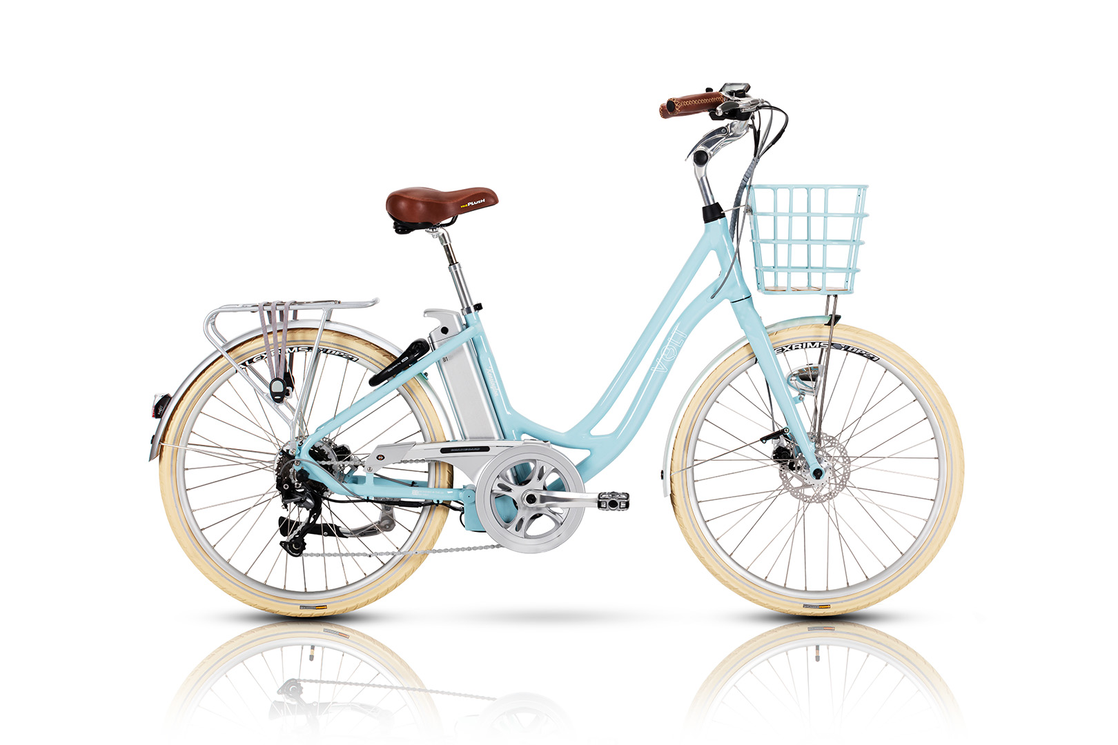 e8e8507880e Volt Kensington Blue Step Through Electric Bicycle