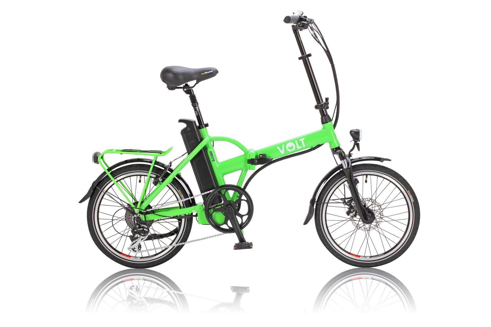 VOLT™ Metro green colour folding electric bike