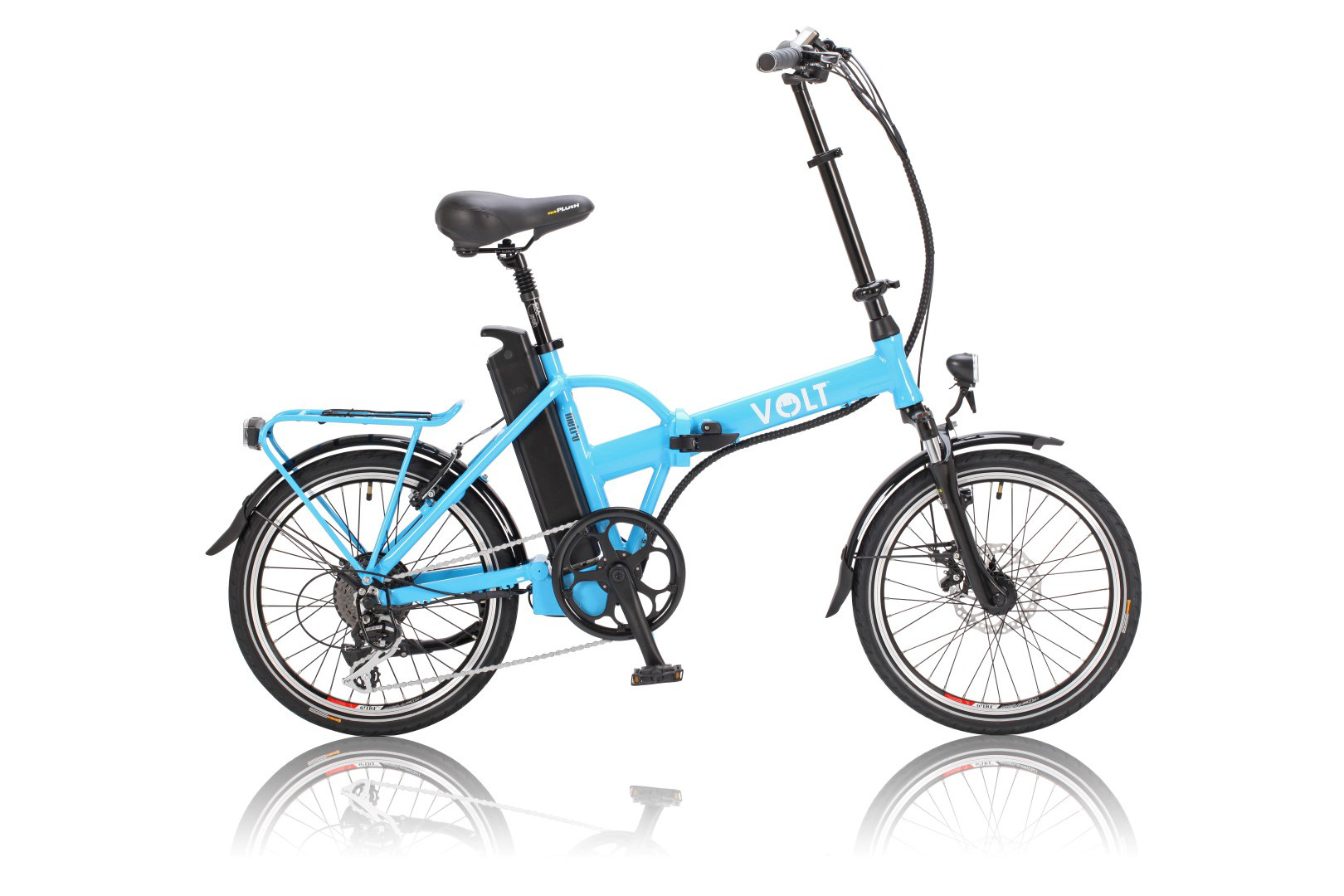 VOLT™ Metro light-blue colour folding electric bike