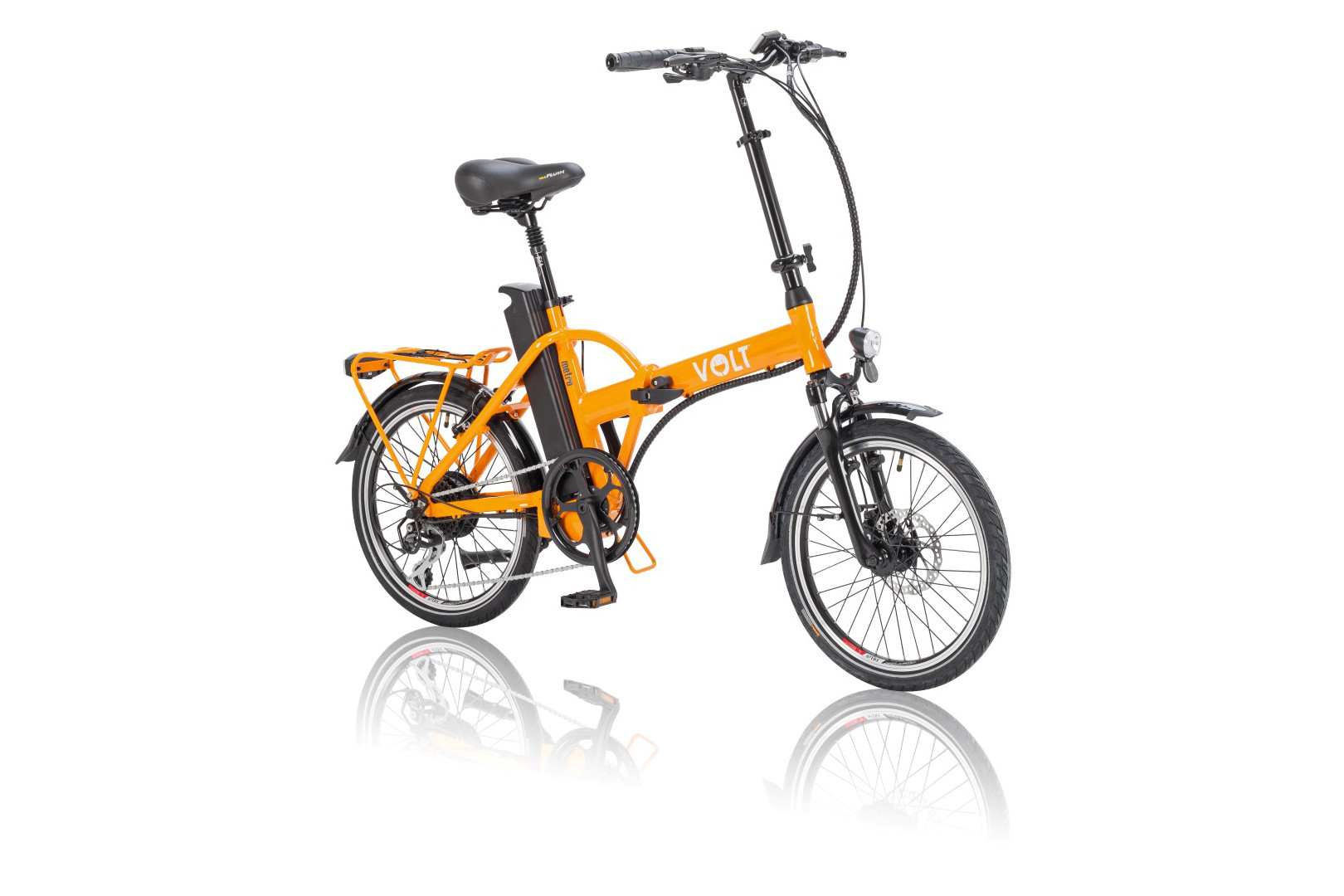 VOLT™ Metro Orange colour folding electric bike