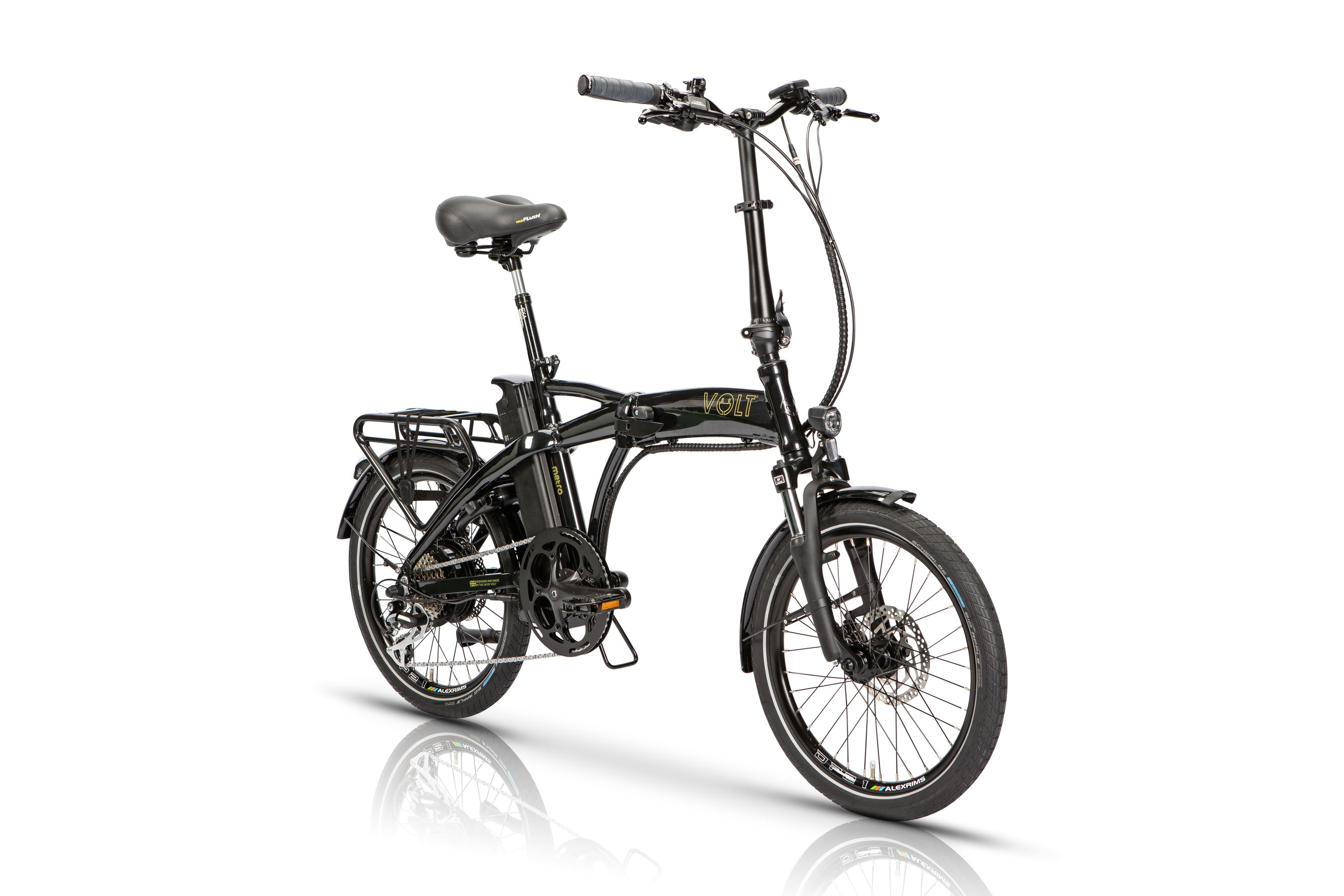 Volt Metro Black Folding Electric Bike