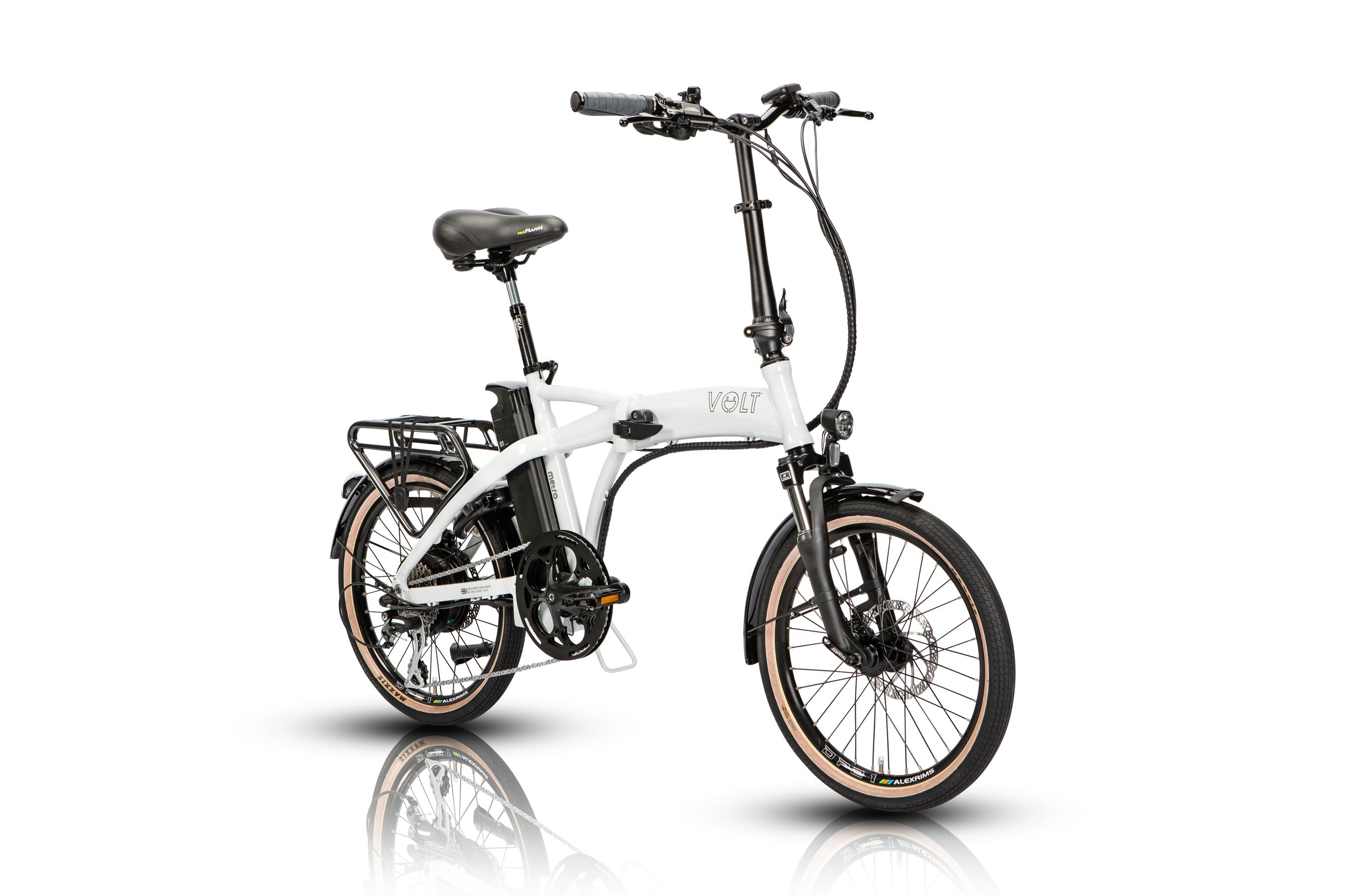 Volt Metro (white) folding electric bike