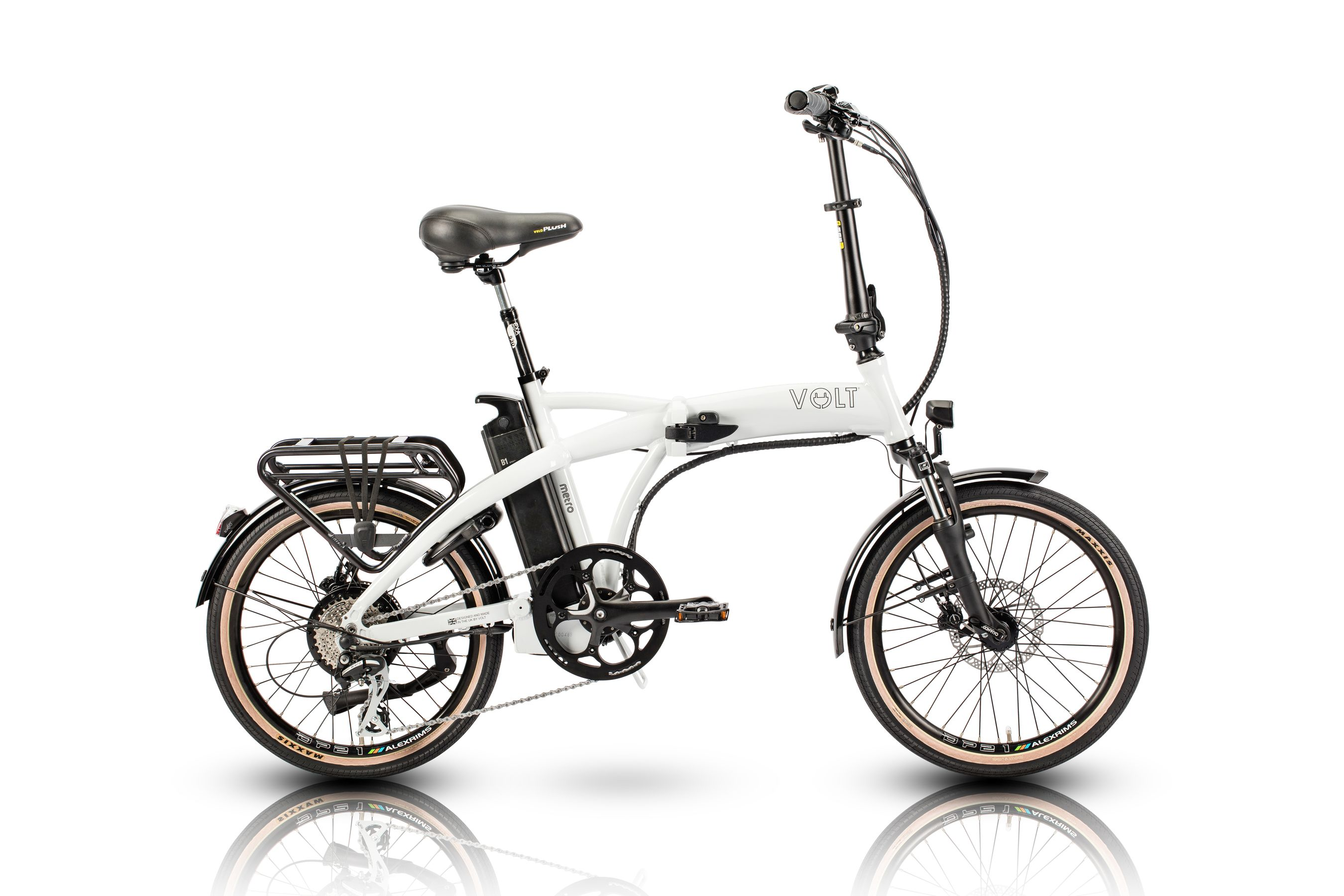 VOLT™ Metro (white) folding electric bike