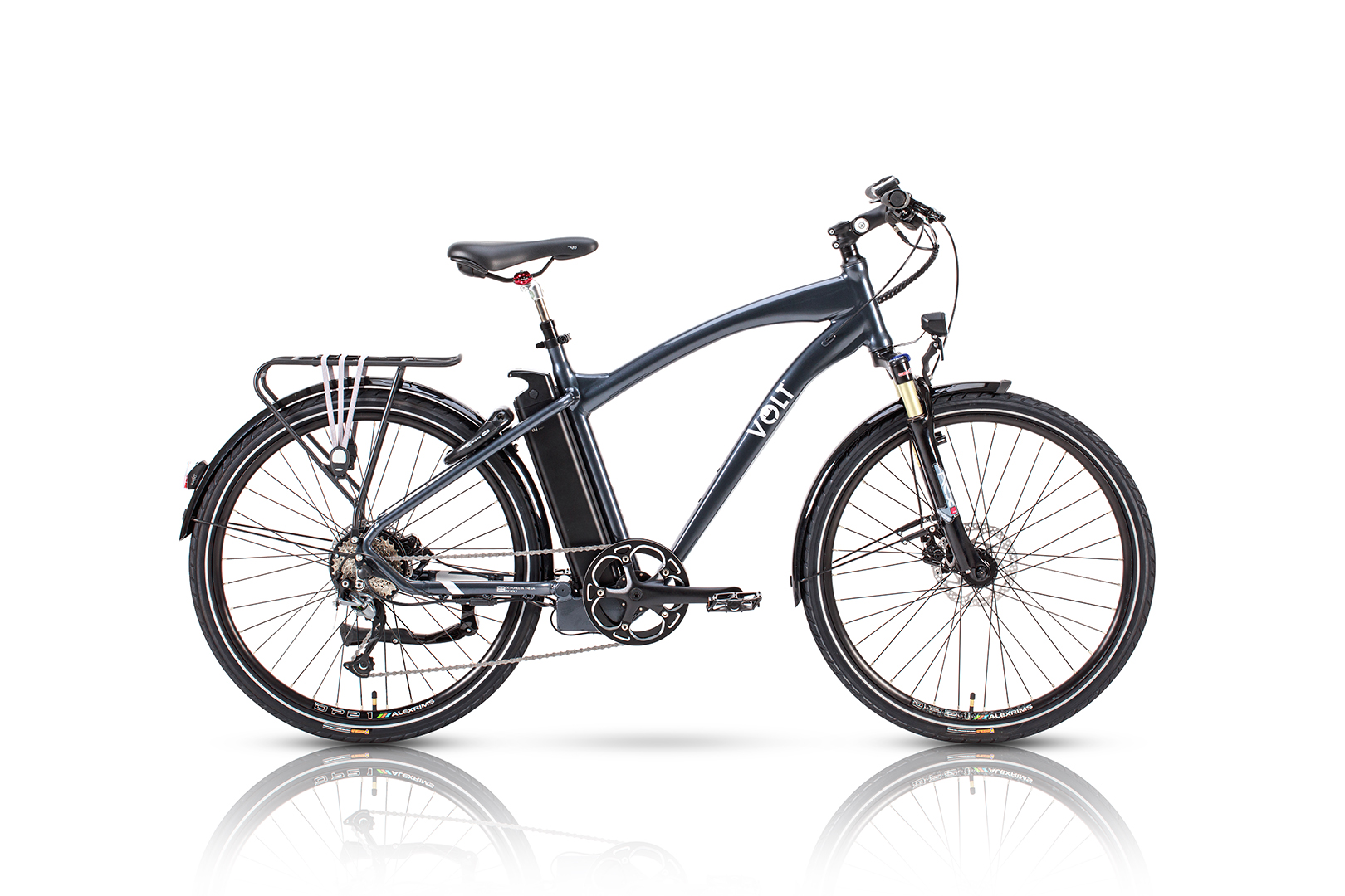 VOLT™ Pulse Hybrid E-bike studio photograph side on with a white background