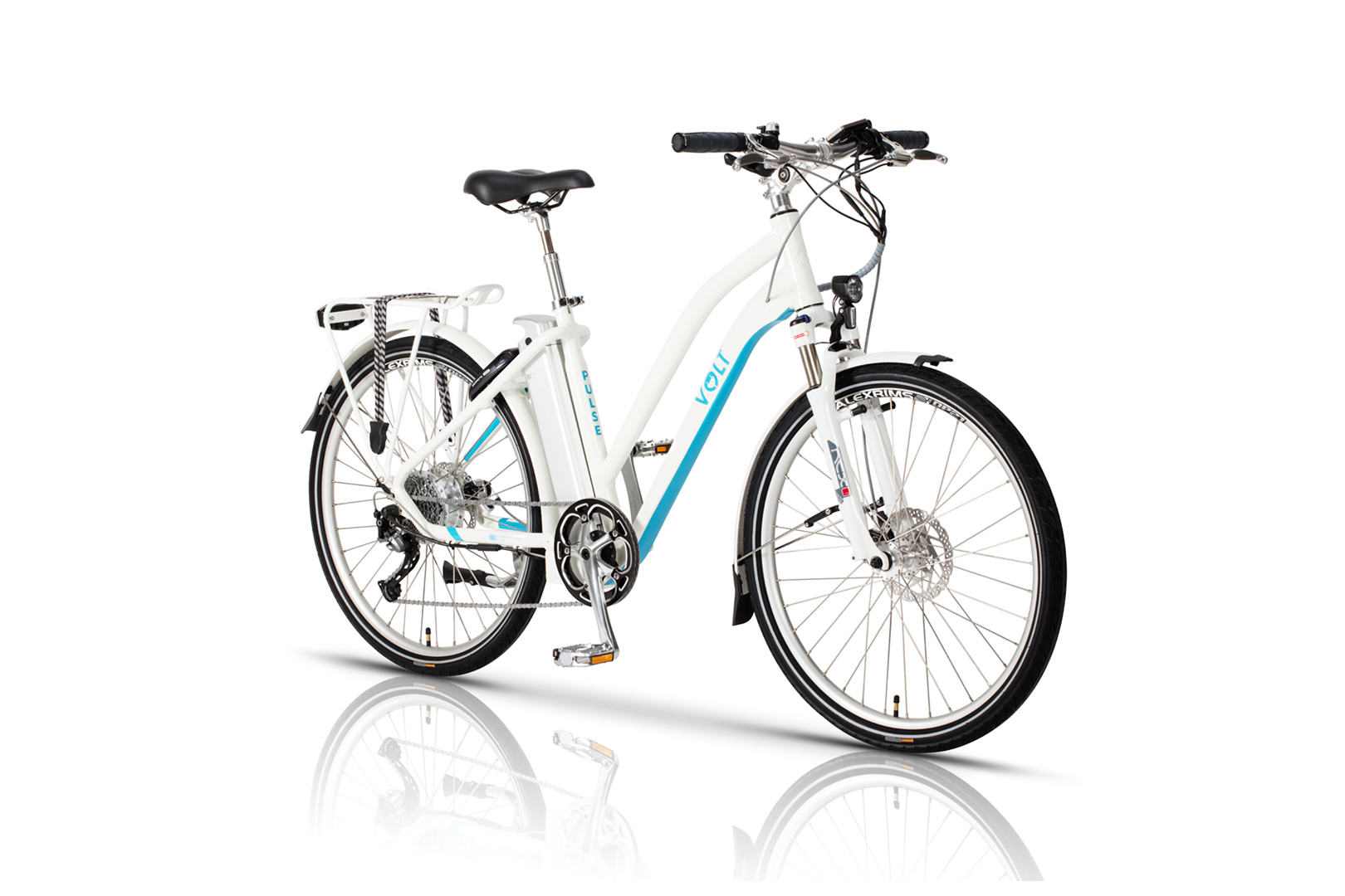 Volt Pulse LS electric bike, studio photograph viewed at an angle with a white background