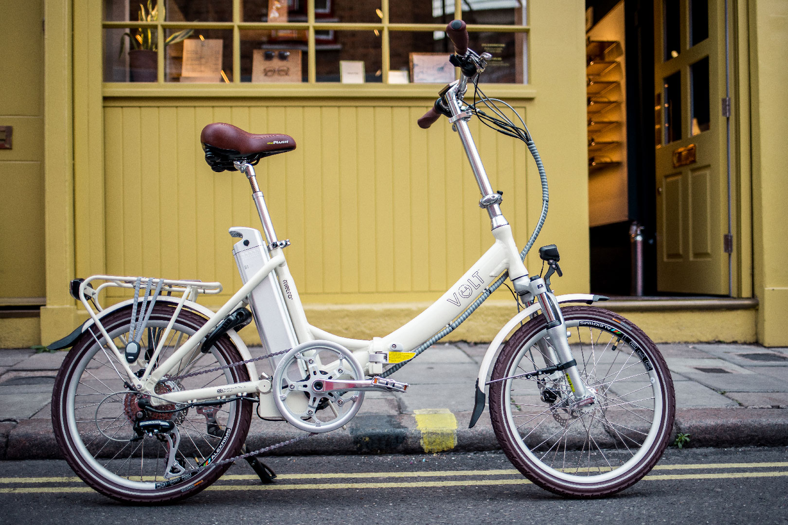 Volt Metro LS Cream Folding ebike in London