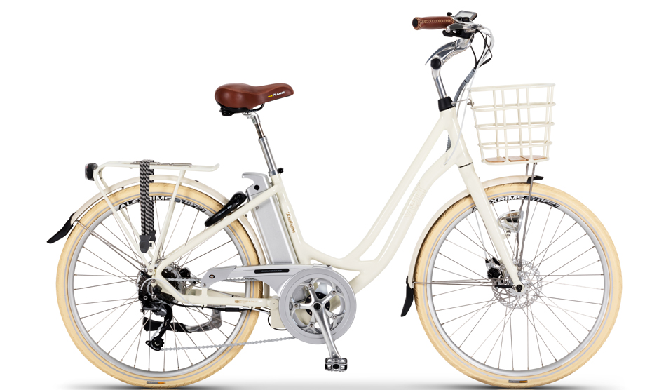 VOLT™ Kensington Cream Step through electric bike