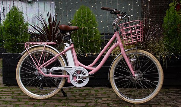 Volt Kensington Pink Step through electric bike
