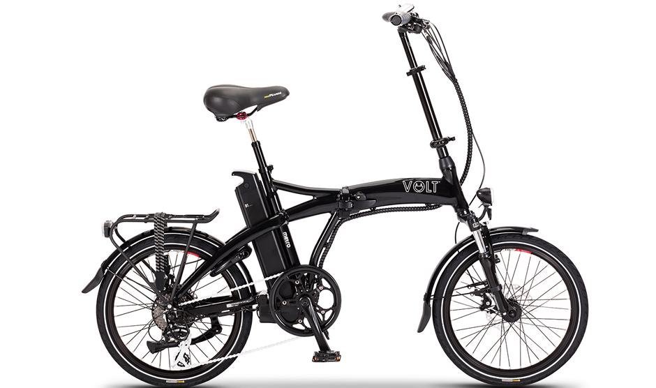 VOLT™ Metro Folding E-bike (Black and White)