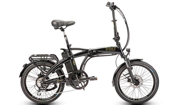 Volt Metro Folding E-bike (Black and White)