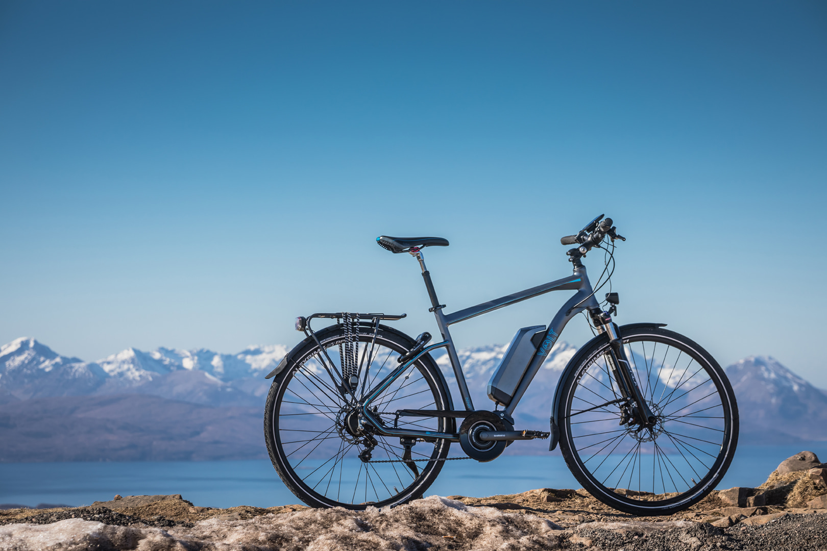 Beautifull landscape in Applecross with Volt Infinity Shimano STEPS