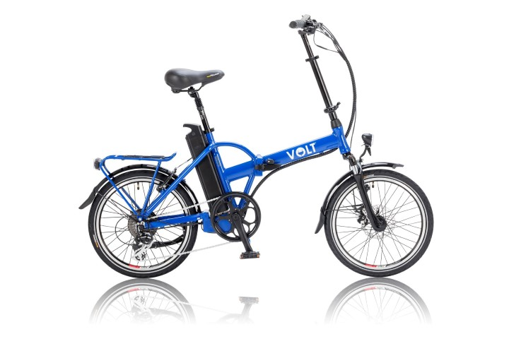 VOLT™ Metro Colour Folding Electric Bike in Blue