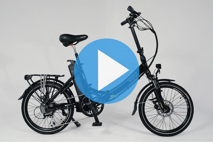 IThe VOLT™ Metro LS folding e-bike: compact, ergonomic and featuring the sophisticated SpinTech™ drive system