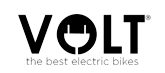 Volt logo, black on white with tagline: the best electric bikes