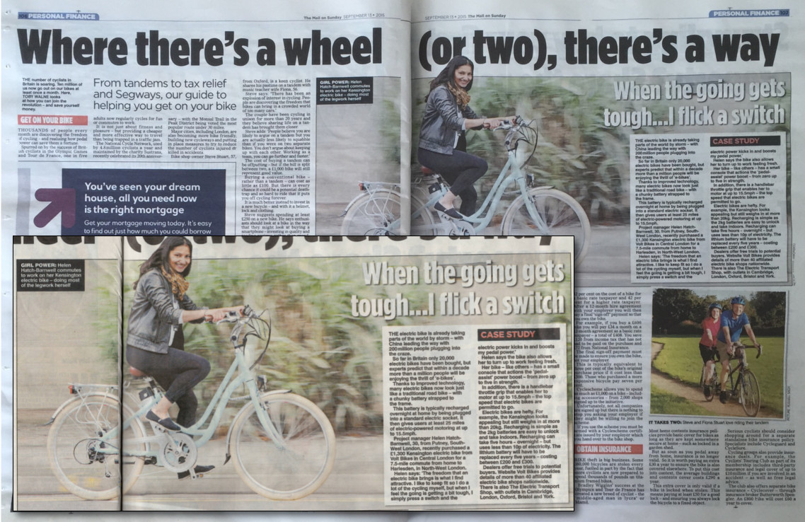 Volt e-bikes in the press