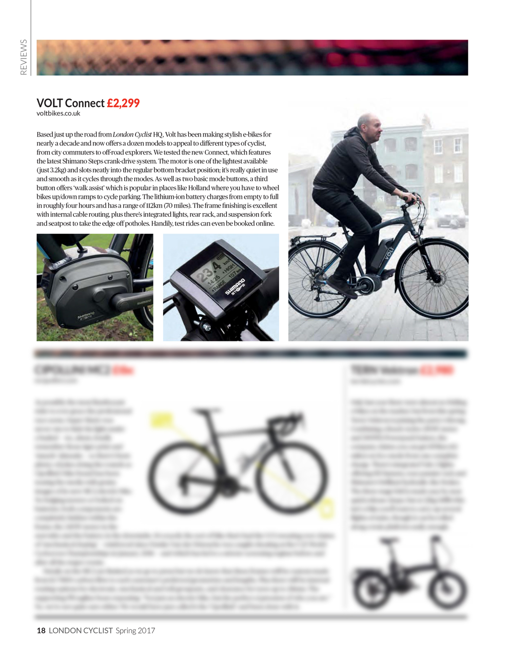 Review of VOLT Connect in London Cycling Campaign's Spring Publication