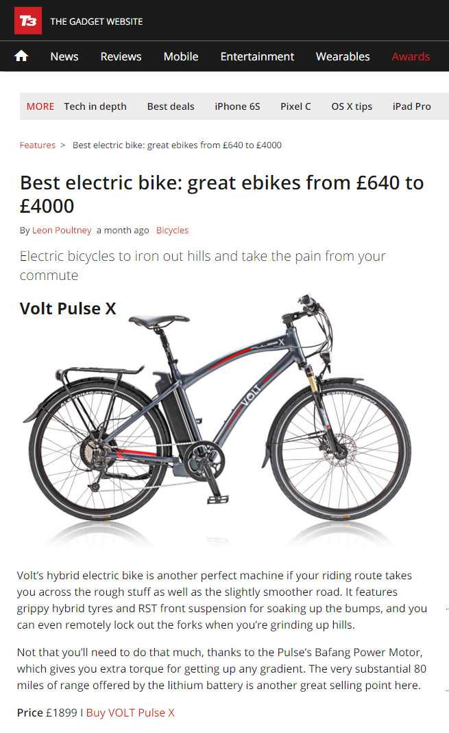 Pulse X: Best electric bike from £640 to £4000 on T3