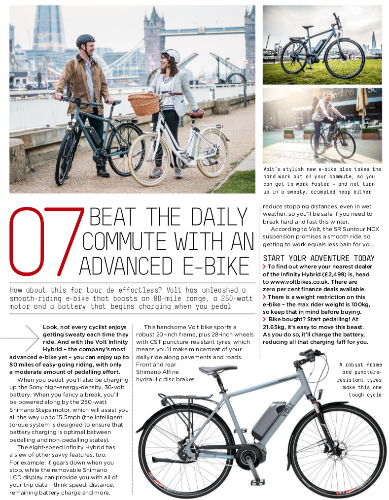 VOLT™ Infinity Shimano Steps features in T3's top 7 tech agenda feature